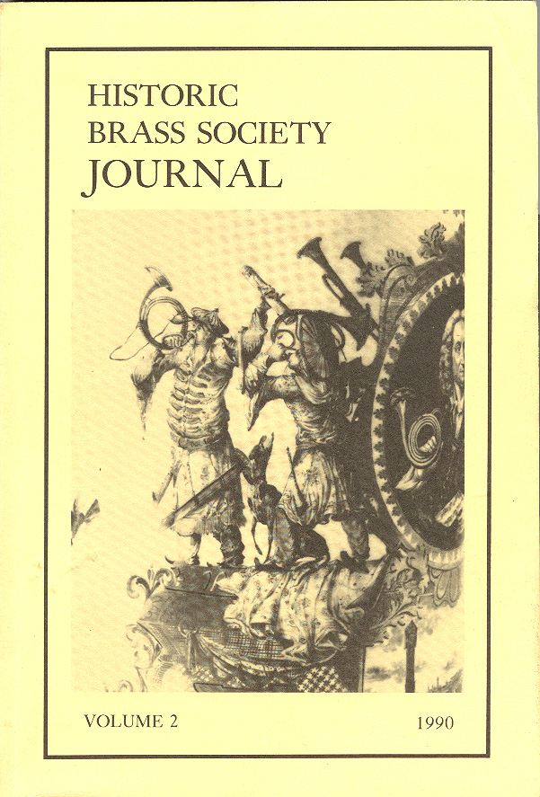 Historic Brass Journal - Volume 2 - 1990