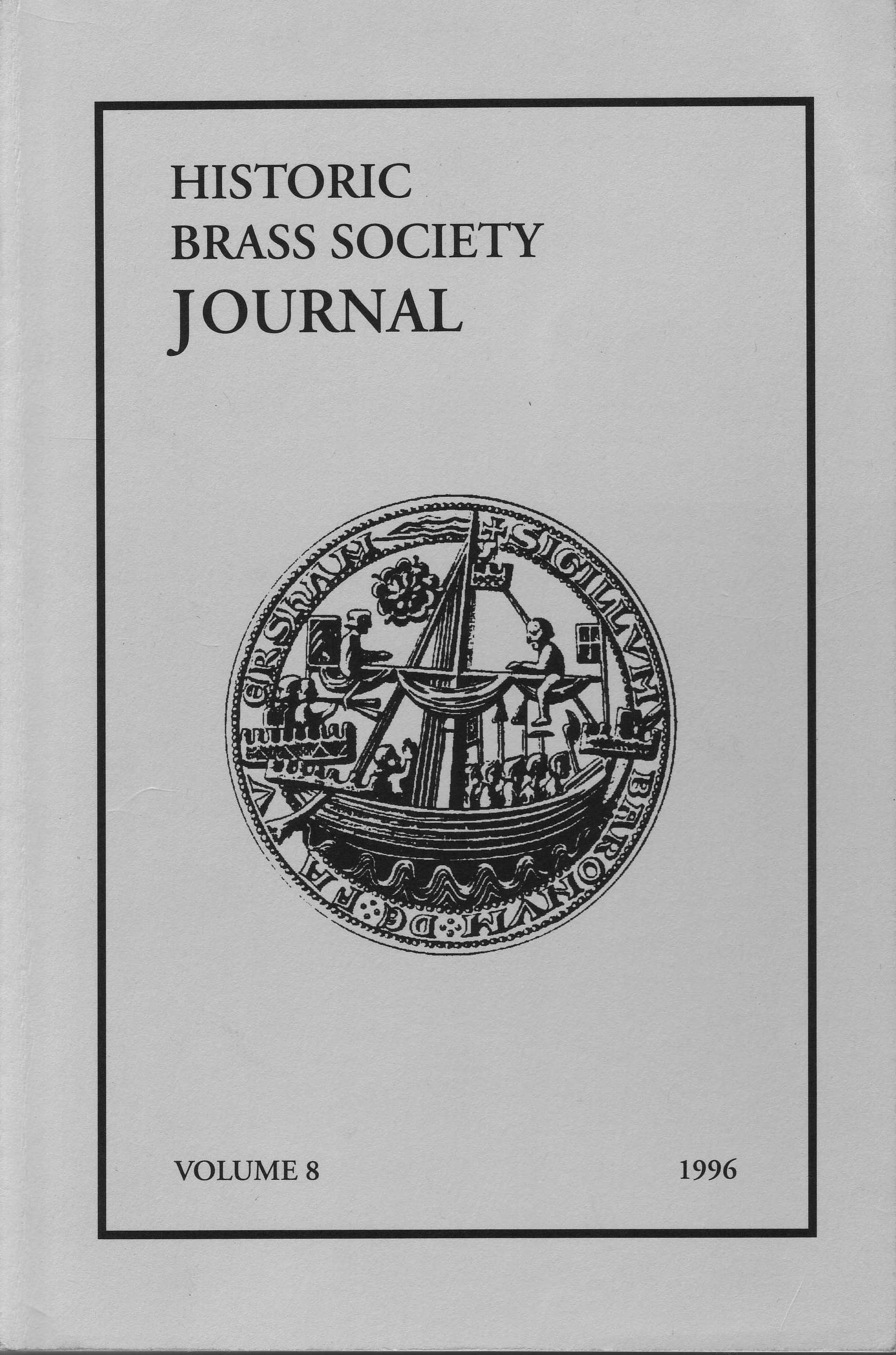 Historic Brass Journal - Volume 8 - 1996