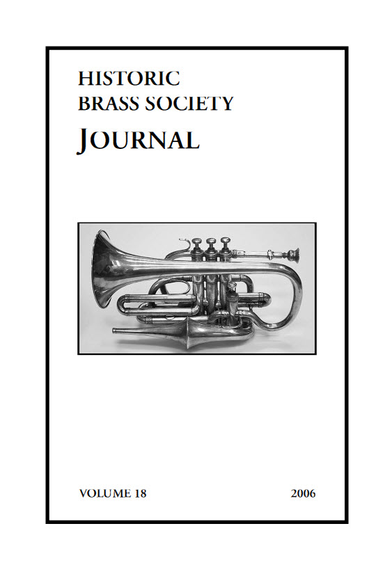 Historic Brass Journal - Volume 18 - 2006